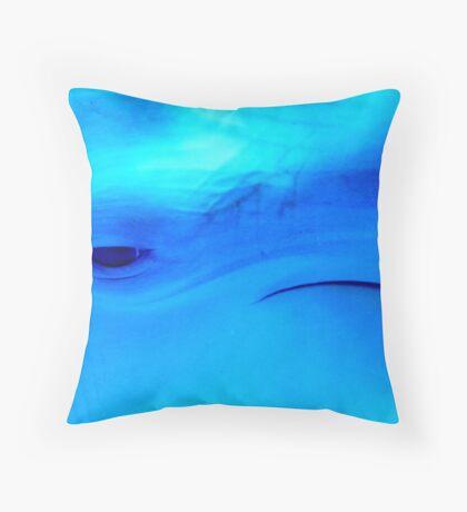 Blu friend Throw Pillow