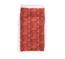 Geometric Red Blocks Duvet Cover Duvet Cover