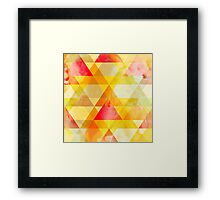 Fab Yellow & Red Triangle Geometric Design Framed Print