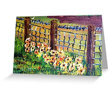 De-Fence............ of............... Flowers............. Greeting Card