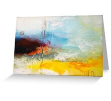 Yellow Blue Abstract Art Print Greeting Card