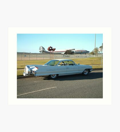 '61 Cadillac Coupe & Connie Art Print