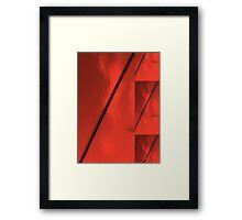 Geometric Red Blocks Duvet Cover Framed Print
