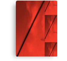 Geometric Red Blocks Duvet Cover Canvas Print