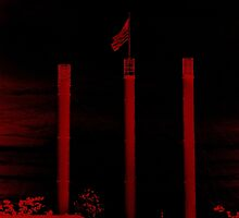 Bend Oregon in Black and Red (USA flag) by va103