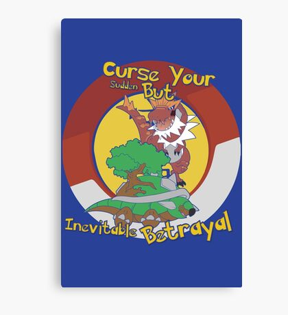 Curse Your Pokemon Betrayal  Canvas Print