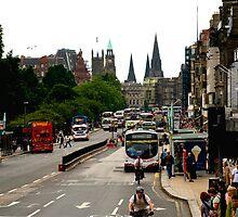 Princes street Edinburgh. by Terry Mooney