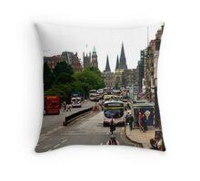 Princes street Edinburgh. Throw Pillow