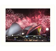 Sydney Opera House up in Lights Art Print