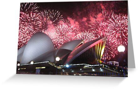 Sydney Opera House up in Lights by Kymbo