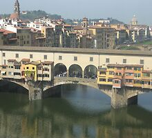 Reflections in the River Arno by Kymbo