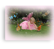 Holly meets a butterfly Canvas Print
