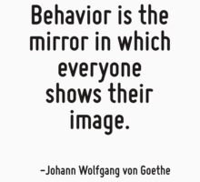 Behavior is the mirror in which everyone shows their image. by Quotr