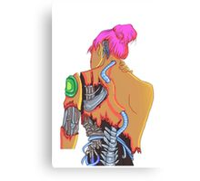 Cybergirl vibrant  Canvas Print