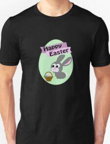 Happy Easter Gray Bunny Unisex T-Shirt