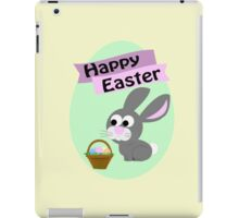 Happy Easter Gray Bunny iPad Case/Skin