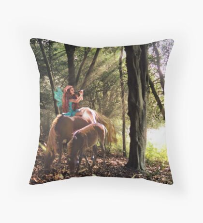 Magical Glade Throw Pillow