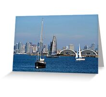 San Diego Bay ~ View From Shelter Island Greeting Card
