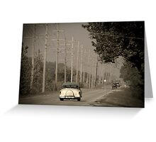 Route 66. Godley 1950's car (Alan Copson ©) Greeting Card