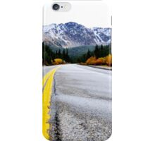 Driving in the Colorado Rockies iPhone Case/Skin