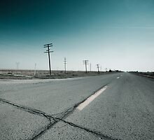Route 66 near Dwight. Illinois  by Alan Copson