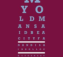 Eye Chart - Aston Villa FC - My Old Man Said by twelfthman