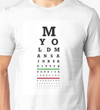 Eye Chart - Aston Villa FC - My Old Man Said Unisex T-Shirt