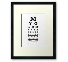 Eye Chart - Aston Villa FC - My Old Man Said Framed Print