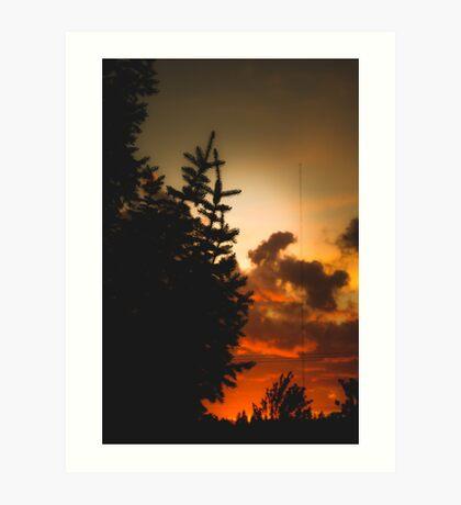 Sunset in Washington state Art Print