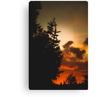 Sunset in Washington state Canvas Print