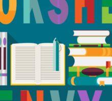 Book Shelf Envy - Black Border  Sticker