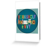 Book Shelf Envy - Black Border  Greeting Card