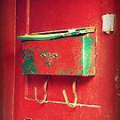 Red Mailbox by Caroline Fournier