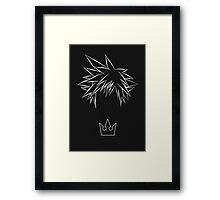 Minimal Sora from Kingdom Hearts Framed Print