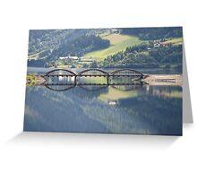 Mirror bridge Greeting Card