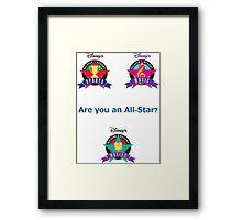 All Star Resorts Framed Print