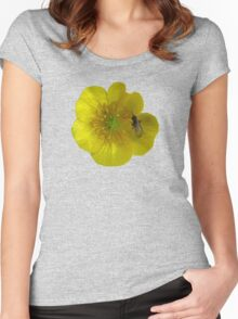 buttercup with insect Women's Fitted Scoop T-Shirt