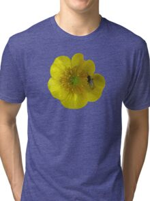 buttercup with insect Tri-blend T-Shirt