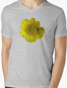buttercup with insect Mens V-Neck T-Shirt