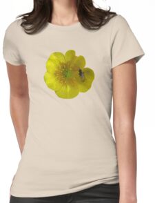 buttercup with insect Womens Fitted T-Shirt