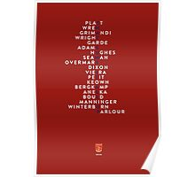 """Arsenal 1998 Double Winners - """"That sums it all up"""" Poster"""