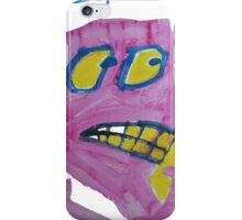 Toby - Pink Graphic Face iPhone Case/Skin