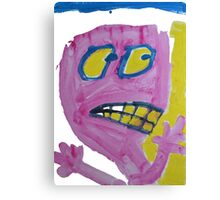 Toby - Pink Graphic Face Canvas Print