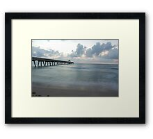 Tranquil Pier Framed Print