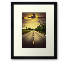 Louisiana Highway 82, an ample opportunity to see gators crossing the road Framed Print