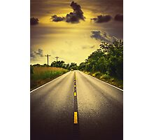 Louisiana Highway 82, an ample opportunity to see gators crossing the road Photographic Print