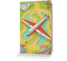 The red and white plane Greeting Card