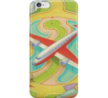 The red and white plane iPhone Case/Skin