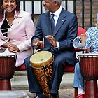 Kofi Annan plays the drums by karentolson