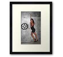 Black Dress Woman Framed Print